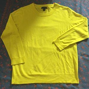 J.Crew. Yellow. Women's Xl. Merino wool sweater.